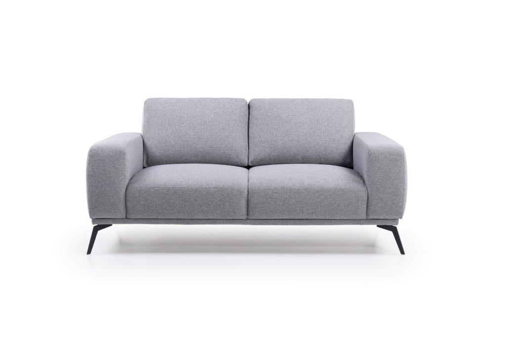 FLOW 2-seater (TROY 3 grey) front softnord soft nord scandinavian style furniture modern interior design sofa bed chair pouf upholstery