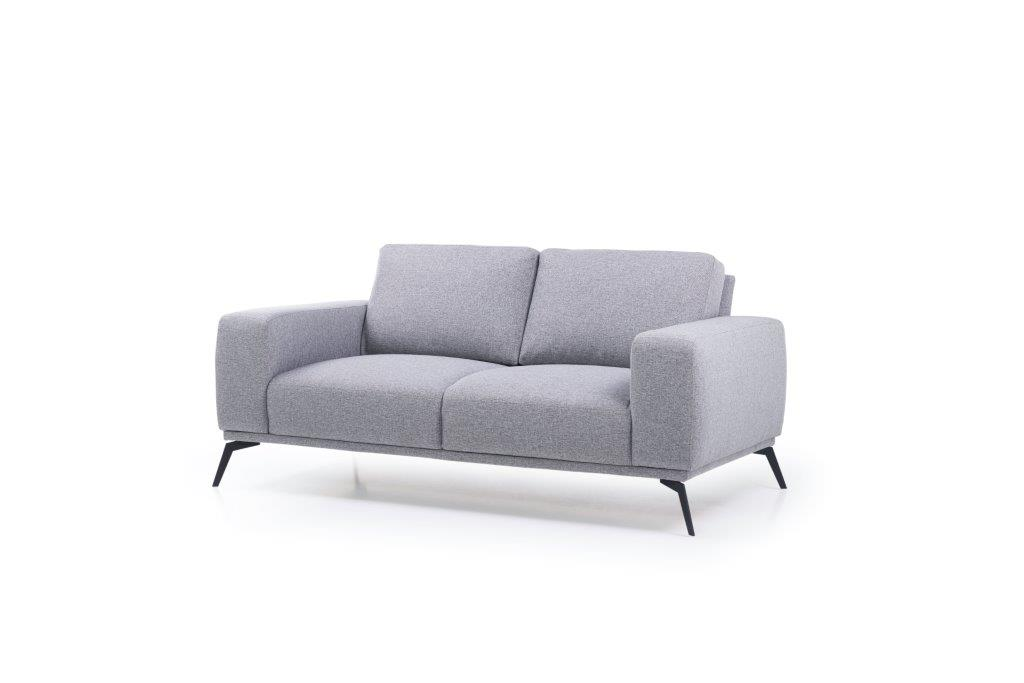 FLOW 2-seater (TROY 3 grey) side softnord soft nord scandinavian style furniture modern interior design sofa bed chair pouf upholstery