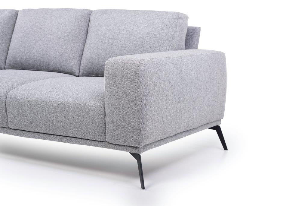FLOW 3-seater (TROY 3 grey) arm+leg softnord soft nord scandinavian style furniture modern interior design sofa bed chair pouf upholstery
