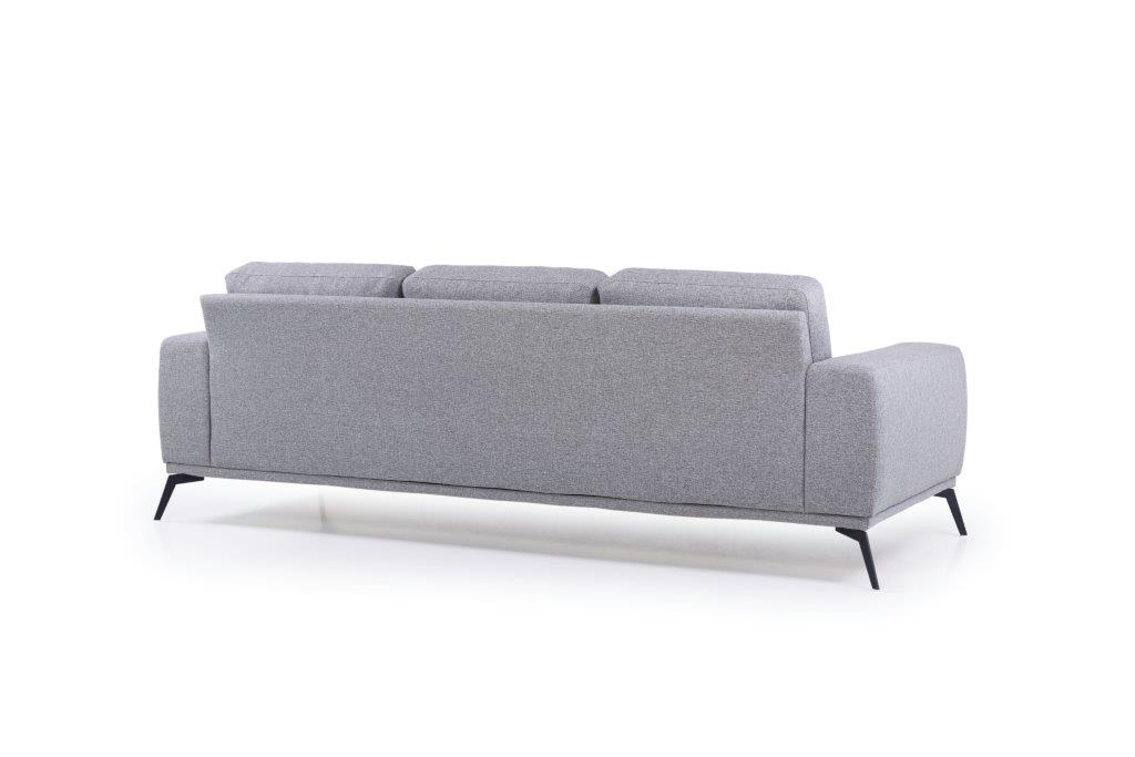 FLOW 3-seater (TROY 3 grey) back softnord soft nord scandinavian style furniture modern interior design sofa bed chair pouf upholstery