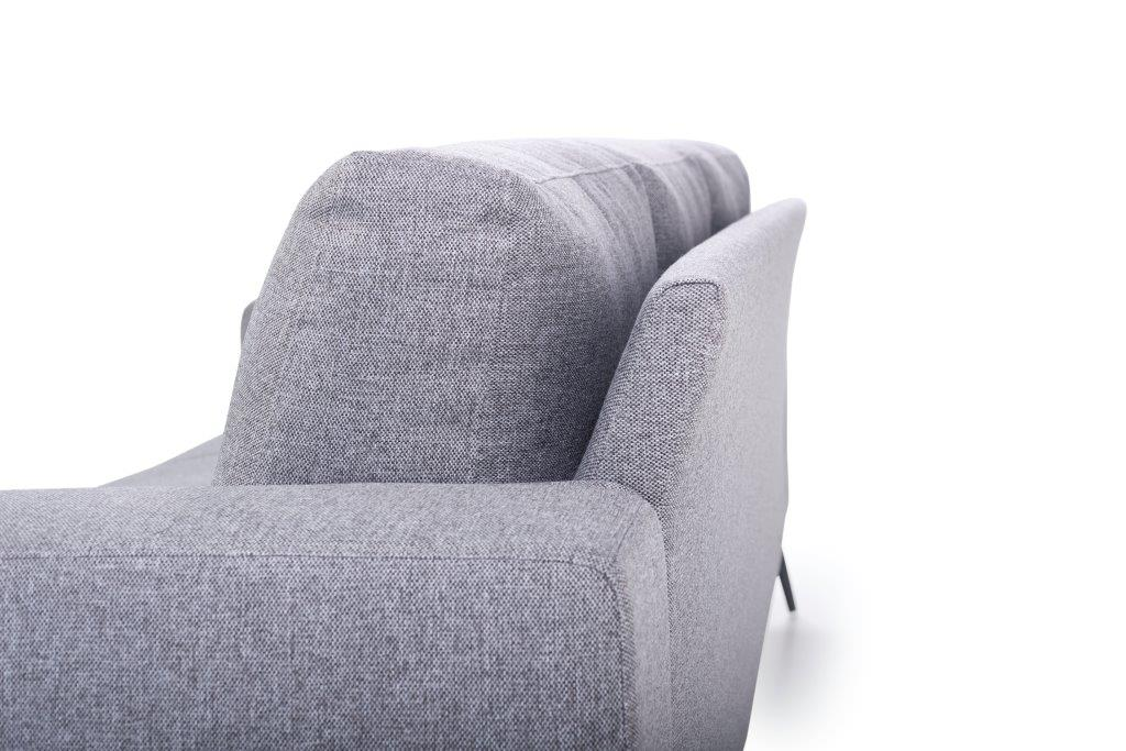 FLOW 3-seater (TROY 3 grey) curved back detail softnord soft nord scandinavian style furniture modern interior design sofa bed chair pouf upholstery