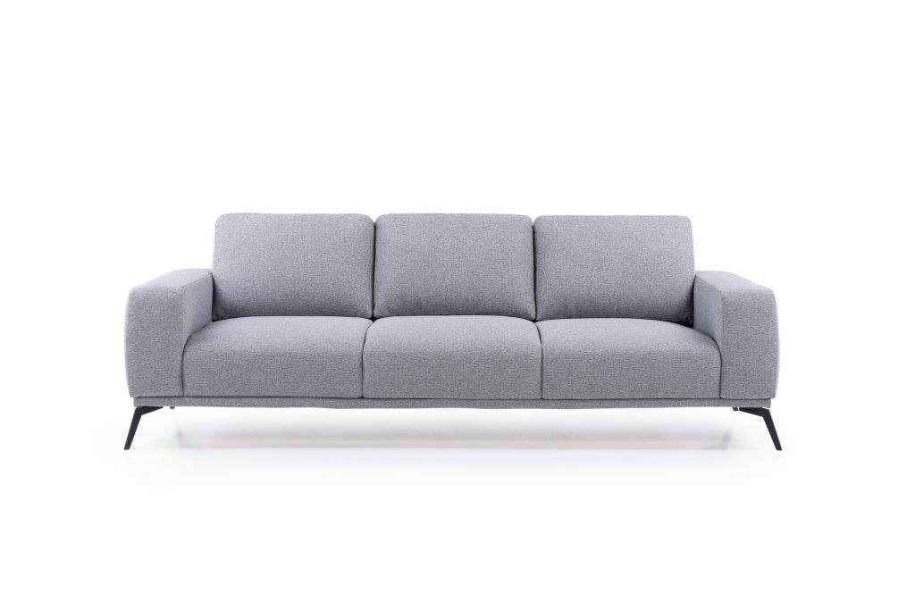 FLOW 3-seater (TROY 3 grey) front softnord soft nord scandinavian style furniture modern interior design sofa bed chair pouf upholstery