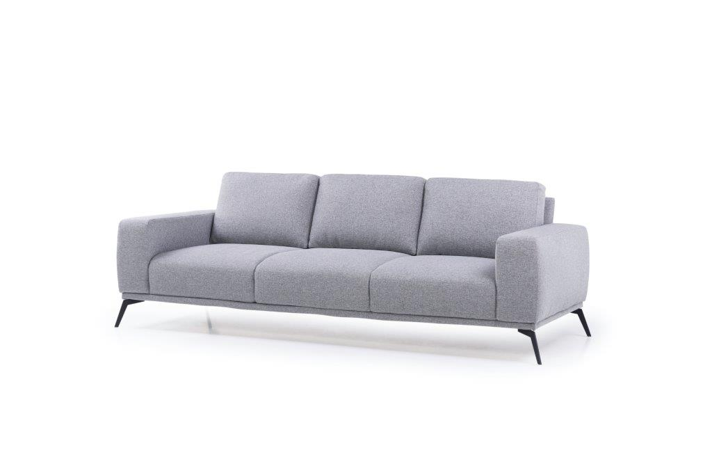FLOW 3-seater (TROY 3 grey) side softnord soft nord scandinavian style furniture modern interior design sofa bed chair pouf upholstery