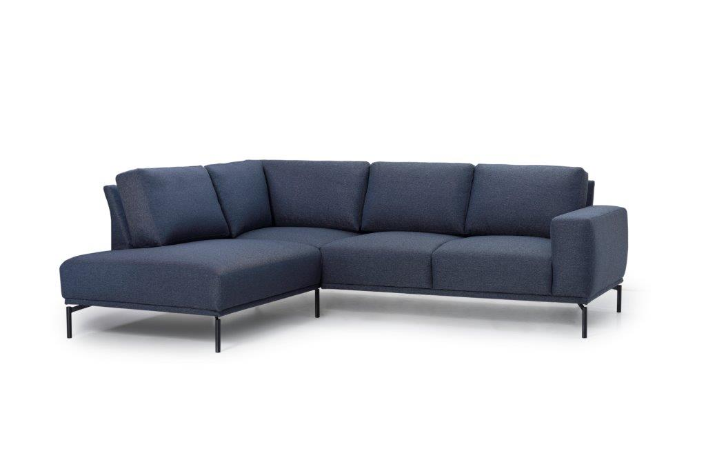FLOW open corner (GOLF 16 blue) side softnord soft nord scandinavian style furniture modern interior design sofa bed chair pouf upholstery
