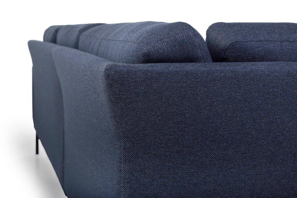 FLOW open corner detail (GOLF 16 blue) softnord soft nord scandinavian style furniture modern interior design sofa bed chair pouf upholstery