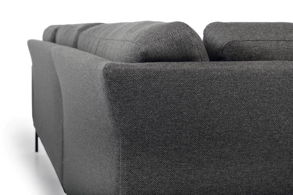 FLOW open corner detail (GOLF 3 grey) softnord soft nord scandinavian style furniture modern interior design sofa bed chair pouf upholstery
