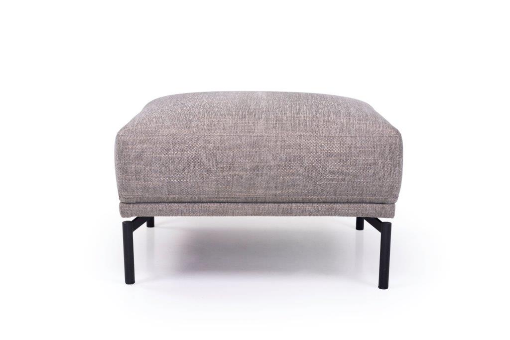 FLOW pouf (XAPHOON 3 grey) front softnord soft nord scandinavian style furniture modern interior design sofa bed chair pouf upholstery