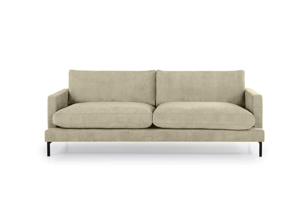 LEKEN 3 seater (CONCEPT 14 latte) front softnord soft nord scandinavian style furniture modern interior design sofa bed chair pouf upholstery