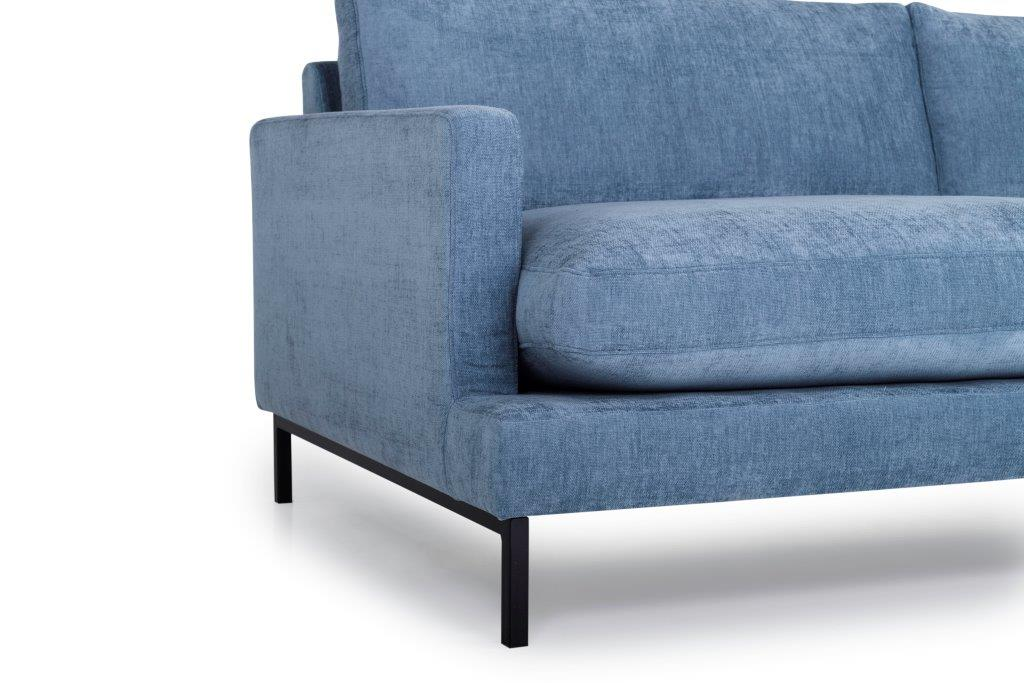 LEKEN 3 seater (CONCEPT 16 blue) arm+leg softnord soft nord scandinavian style furniture modern interior design sofa bed chair pouf upholstery