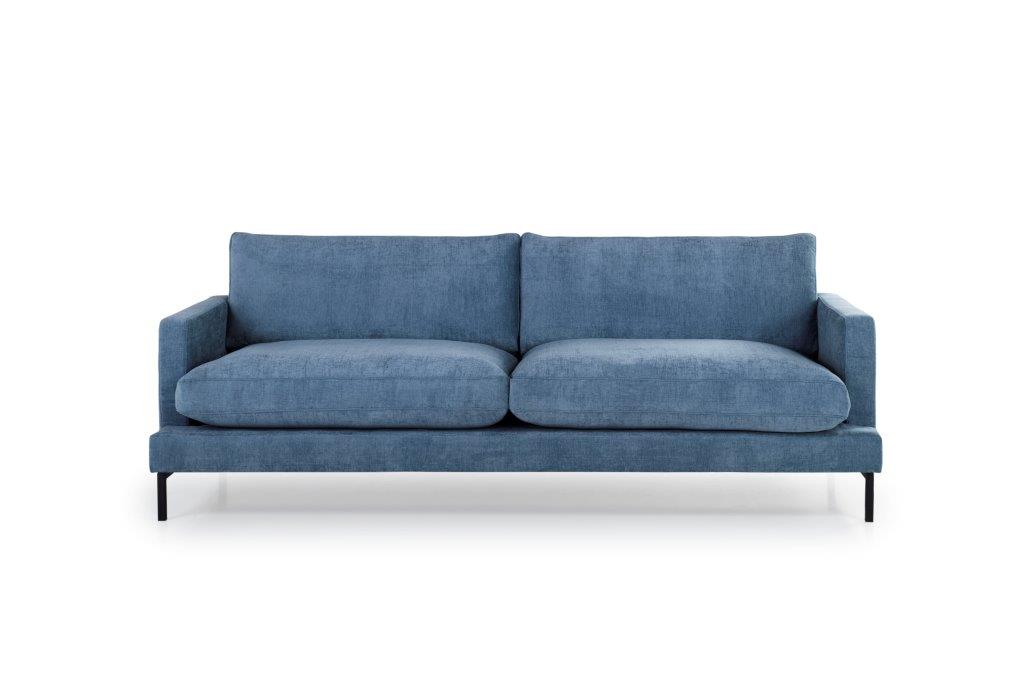 LEKEN 3 seater (CONCEPT 16 blue) front softnord soft nord scandinavian style furniture modern interior design sofa bed chair pouf upholstery