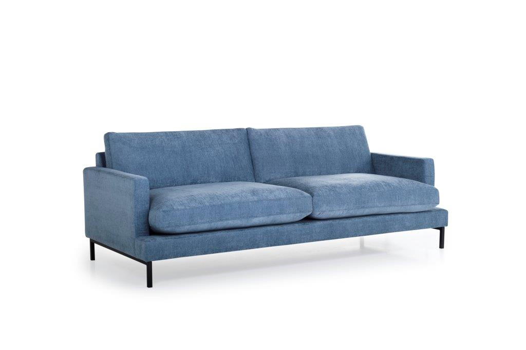 LEKEN 3 seater (CONCEPT 16 blue) side softnord soft nord scandinavian style furniture modern interior design sofa bed chair pouf upholstery