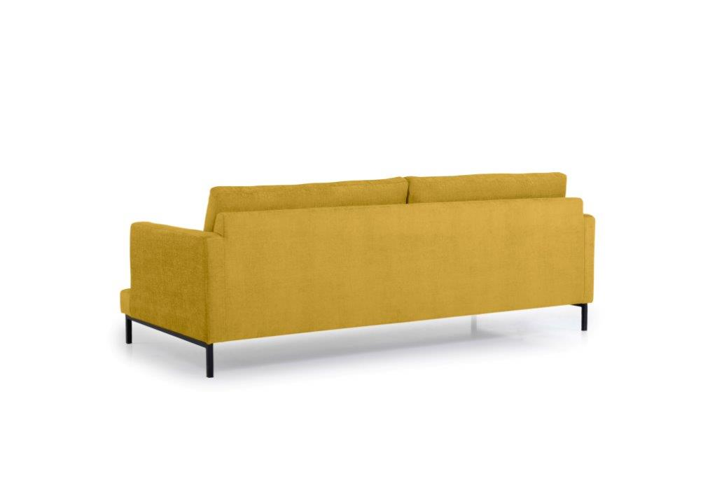LEKEN 3 seater (CONCEPT 23 yellow) back softnord soft nord scandinavian style furniture modern interior design sofa bed chair pouf upholstery