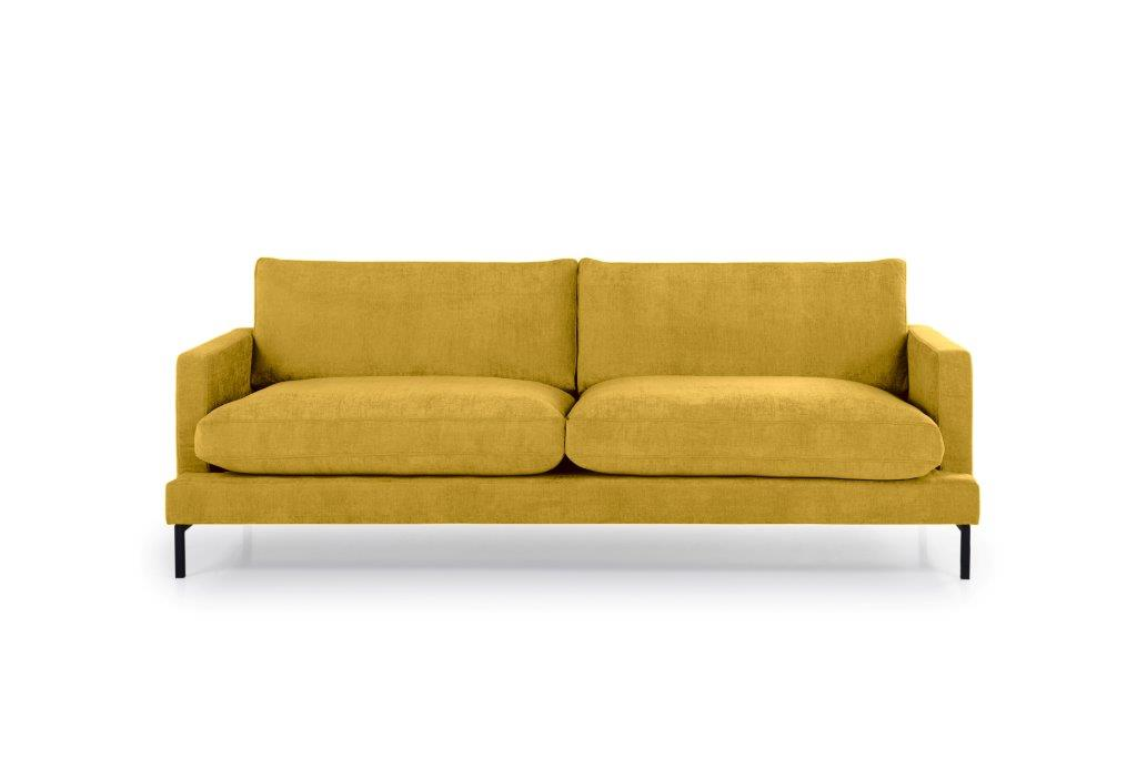 LEKEN 3 seater (CONCEPT 23 yellow) front softnord soft nord scandinavian style furniture modern interior design sofa bed chair pouf upholstery