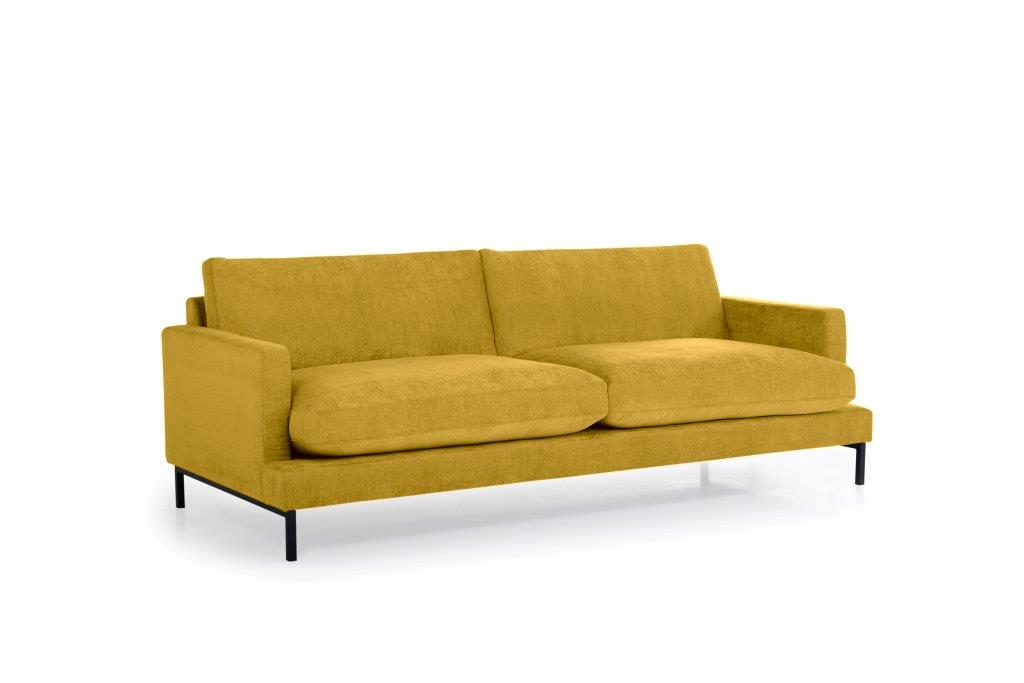 LEKEN 3 seater (CONCEPT 23 yellow) side softnord soft nord scandinavian style furniture modern interior design sofa bed chair pouf upholstery