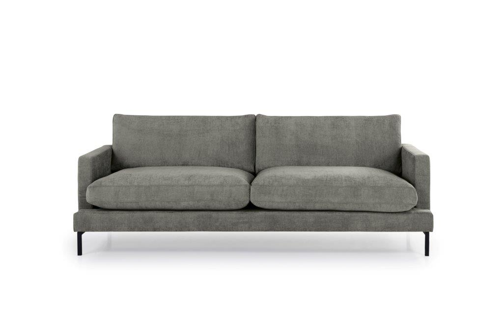 LEKEN 3 seater (CONCEPT 3 grey) front softnord soft nord scandinavian style furniture modern interior design sofa bed chair pouf upholstery