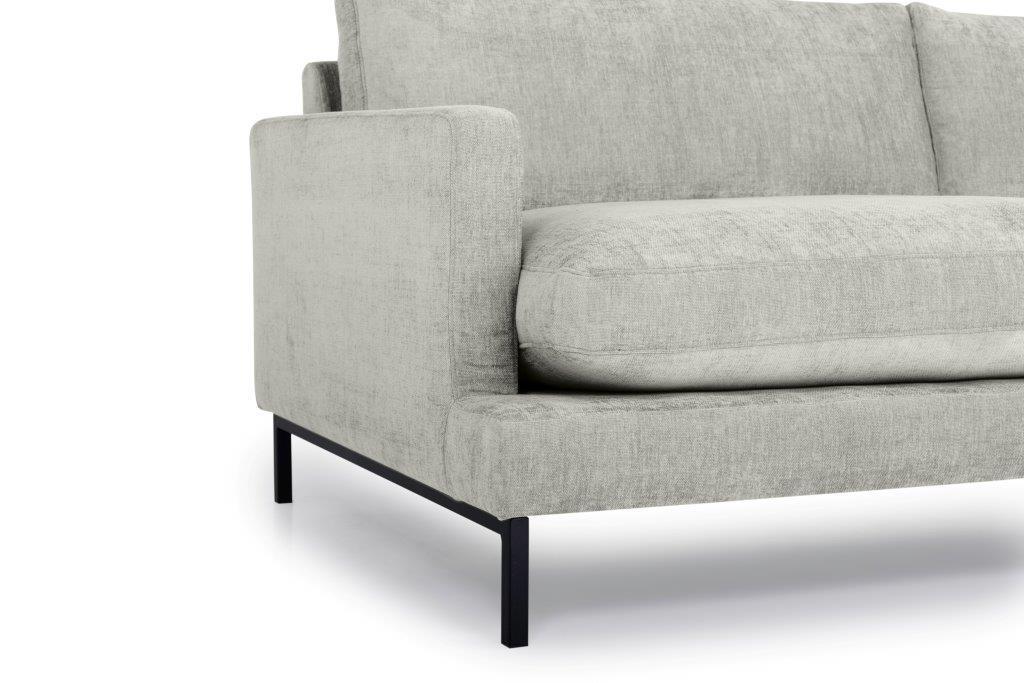 LEKEN 3 seater (CONCEPT 3.1 light grey) arm+leg softnord soft nord scandinavian style furniture modern interior design sofa bed chair pouf upholstery