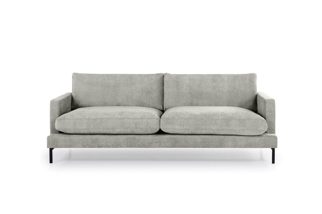 LEKEN 3 seater (CONCEPT 3.1 light grey) front softnord soft nord scandinavian style furniture modern interior design sofa bed chair pouf upholstery