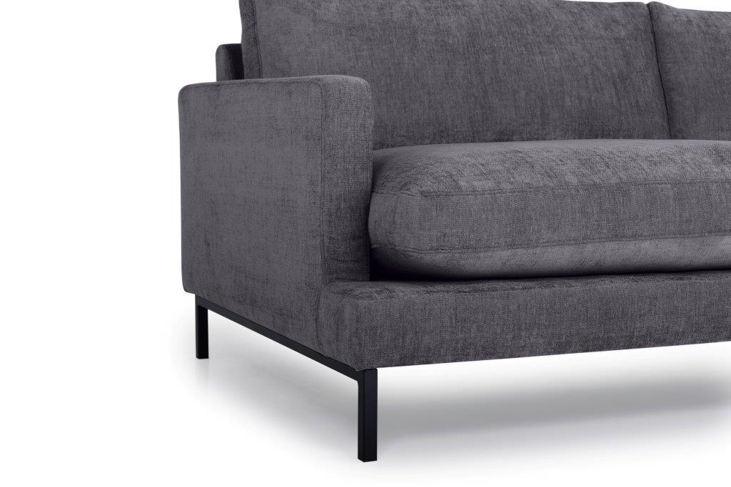 LEKEN 3 seater (CONCEPT 3.2 dark grey) arm+leg softnord soft nord scandinavian style furniture modern interior design sofa bed chair pouf upholstery