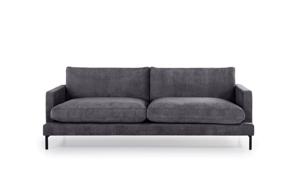 LEKEN 3 seater (CONCEPT 3.2 dark grey) front softnord soft nord scandinavian style furniture modern interior design sofa bed chair pouf upholstery