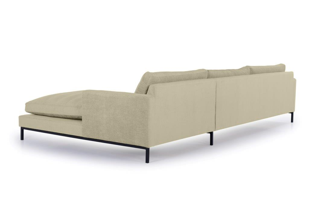 LEKEN chaiselongue with 3 seater (CONCEPT 14 latte) back softnord soft nord scandinavian style furniture modern interior design sofa bed chair pouf upholstery