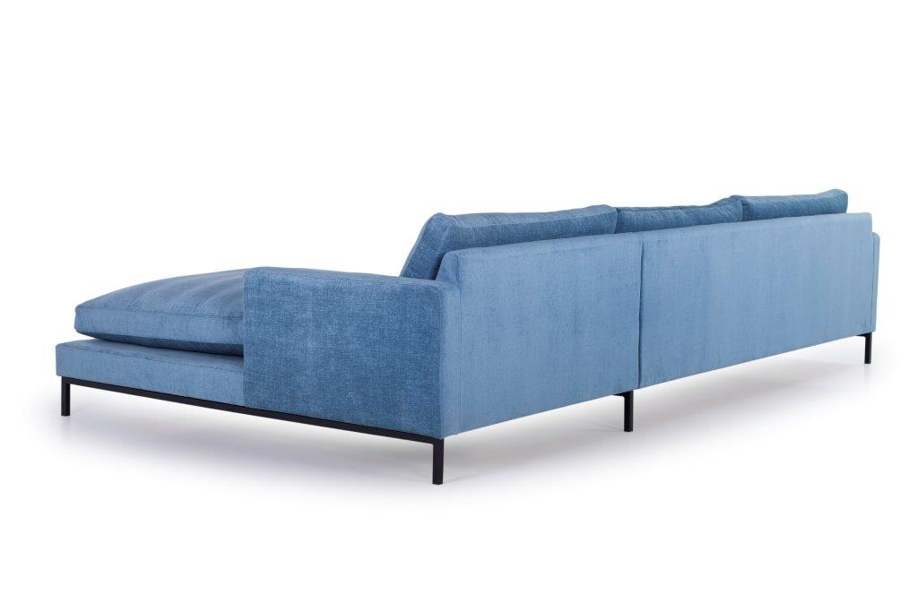 LEKEN chaiselongue with 3 seater (CONCEPT 16 blue) back softnord soft nord scandinavian style furniture modern interior design sofa bed chair pouf upholstery