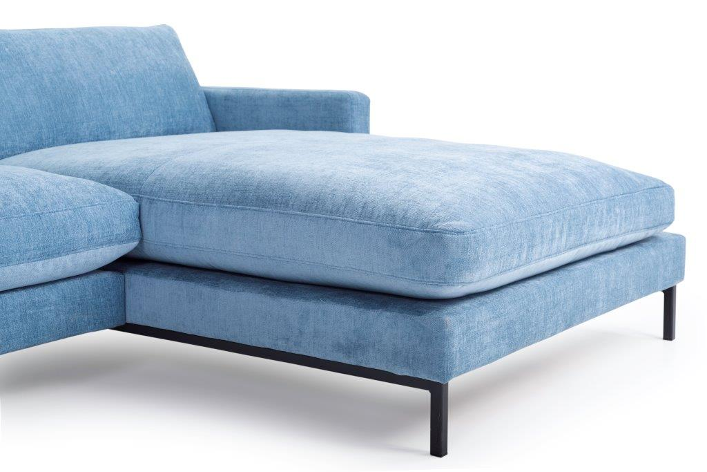 LEKEN chaiselongue with 3 seater (CONCEPT 16 blue) detail softnord soft nord scandinavian style furniture modern interior design sofa bed chair pouf upholstery