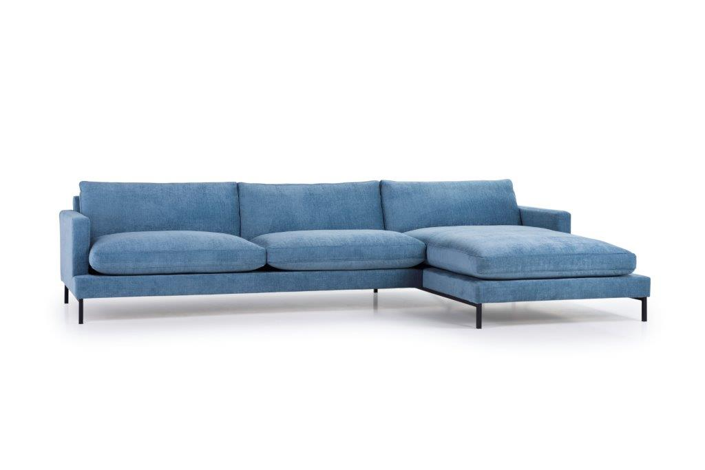 LEKEN chaiselongue with 3 seater (CONCEPT 16 blue) side softnord soft nord scandinavian style furniture modern interior design sofa bed chair pouf upholstery
