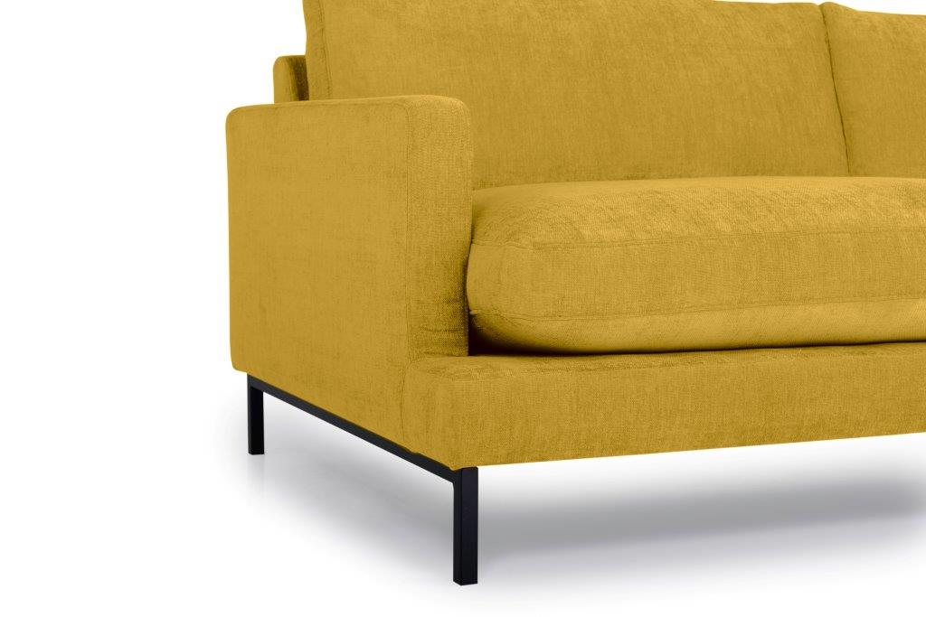 LEKEN chaiselongue with 3 seater (CONCEPT 23 yellow) arm+leg softnord soft nord scandinavian style furniture modern interior design sofa bed chair pouf upholstery
