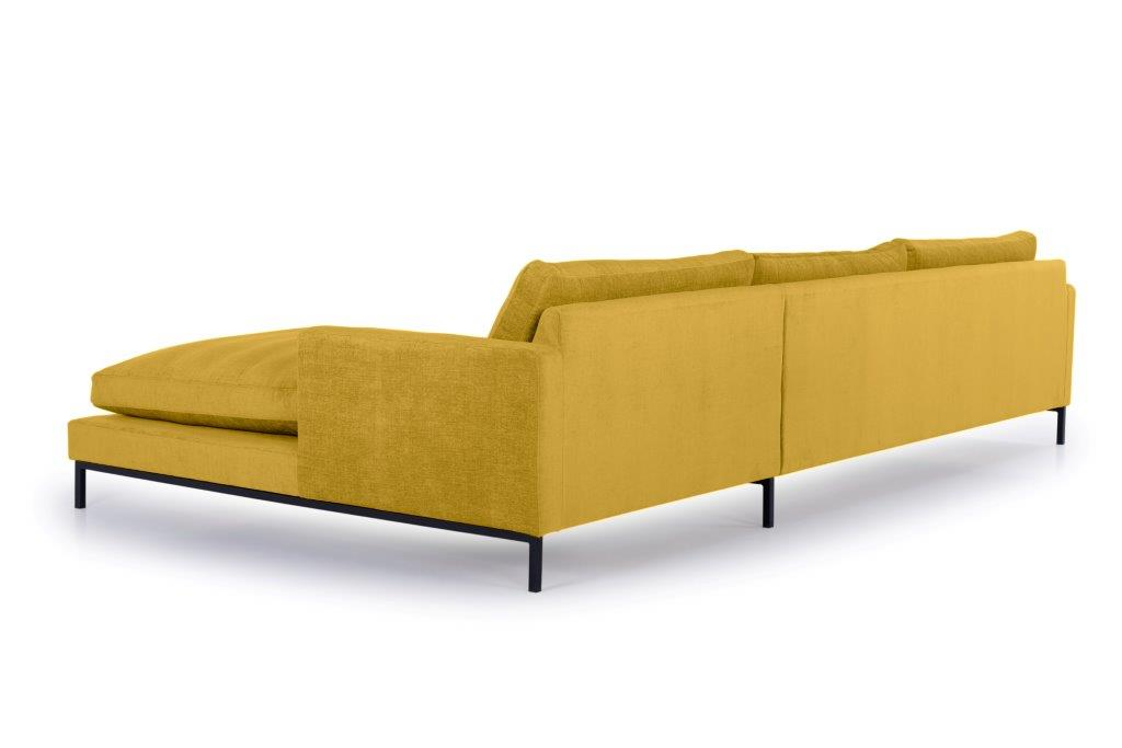LEKEN chaiselongue with 3 seater (CONCEPT 23 yellow) back softnord soft nord scandinavian style furniture modern interior design sofa bed chair pouf upholstery