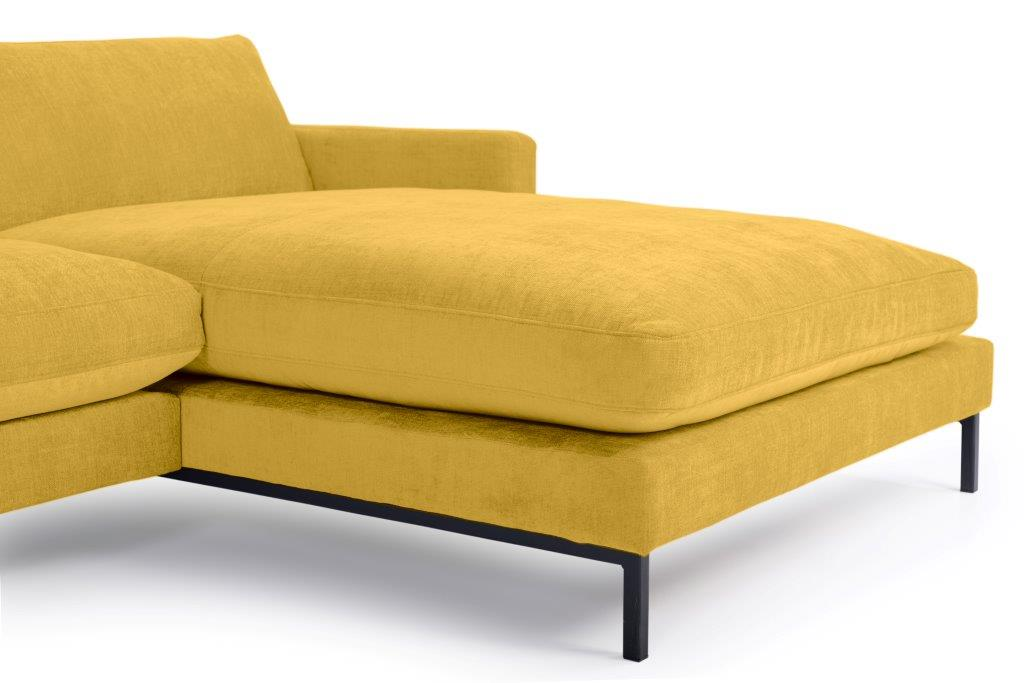 LEKEN chaiselongue with 3 seater (CONCEPT 23 yellow) detail softnord soft nord scandinavian style furniture modern interior design sofa bed chair pouf upholstery