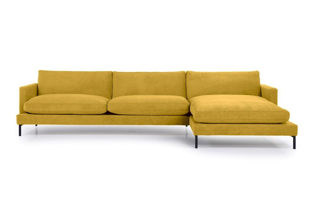 LEKEN chaiselongue with 3 seater (CONCEPT 23 yellow) front softnord soft nord scandinavian style furniture modern interior design sofa bed chair pouf upholstery