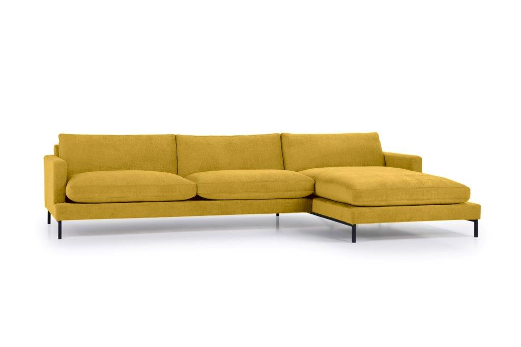 LEKEN chaiselongue with 3 seater (CONCEPT 23 yellow) side softnord soft nord scandinavian style furniture modern interior design sofa bed chair pouf upholstery
