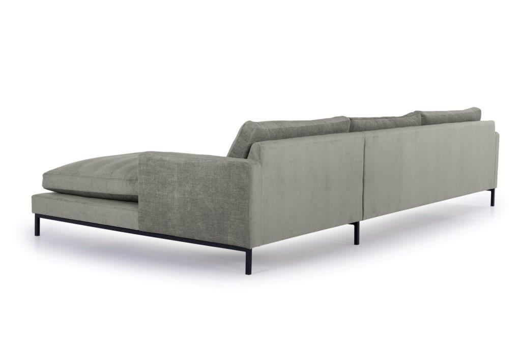 LEKEN chaiselongue with 3 seater (CONCEPT 3 grey) back softnord soft nord scandinavian style furniture modern interior design sofa bed chair pouf upholstery