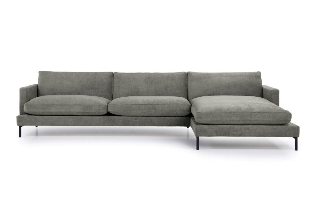 LEKEN chaiselongue with 3 seater (CONCEPT 3 grey) front softnord soft nord scandinavian style furniture modern interior design sofa bed chair pouf upholstery