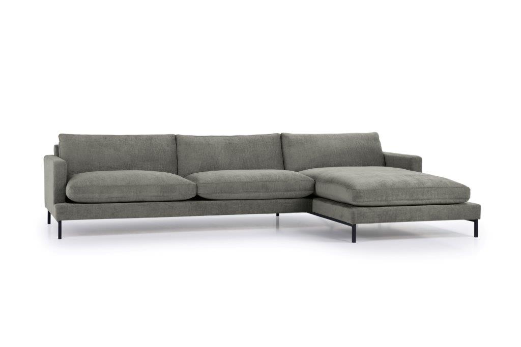 LEKEN chaiselongue with 3 seater (CONCEPT 3 grey) side softnord soft nord scandinavian style furniture modern interior design sofa bed chair pouf upholstery