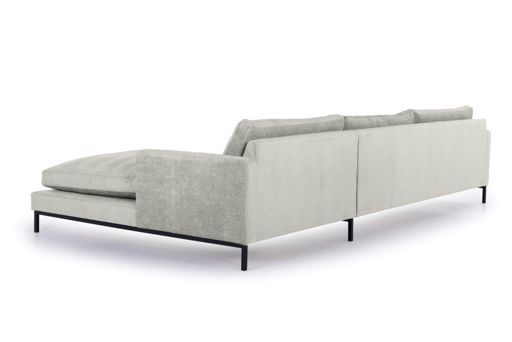 LEKEN chaiselongue with 3 seater (CONCEPT 3.1 light grey) back softnord soft nord scandinavian style furniture modern interior design sofa bed chair pouf upholstery