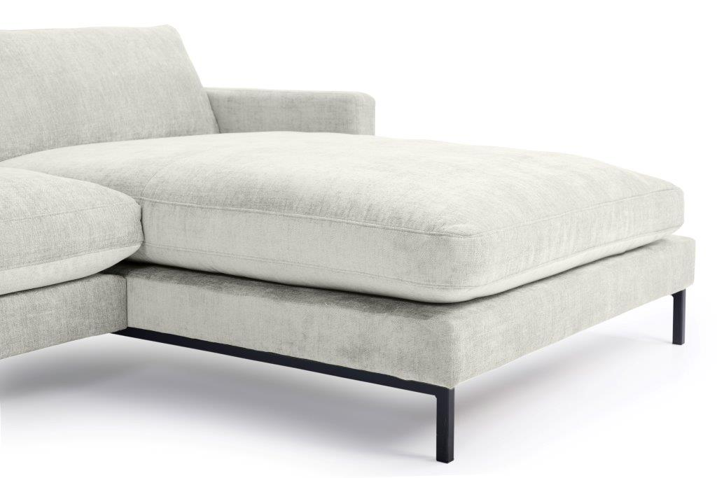 LEKEN chaiselongue with 3 seater (CONCEPT 3.1 light grey) detail softnord soft nord scandinavian style furniture modern interior design sofa bed chair pouf upholstery