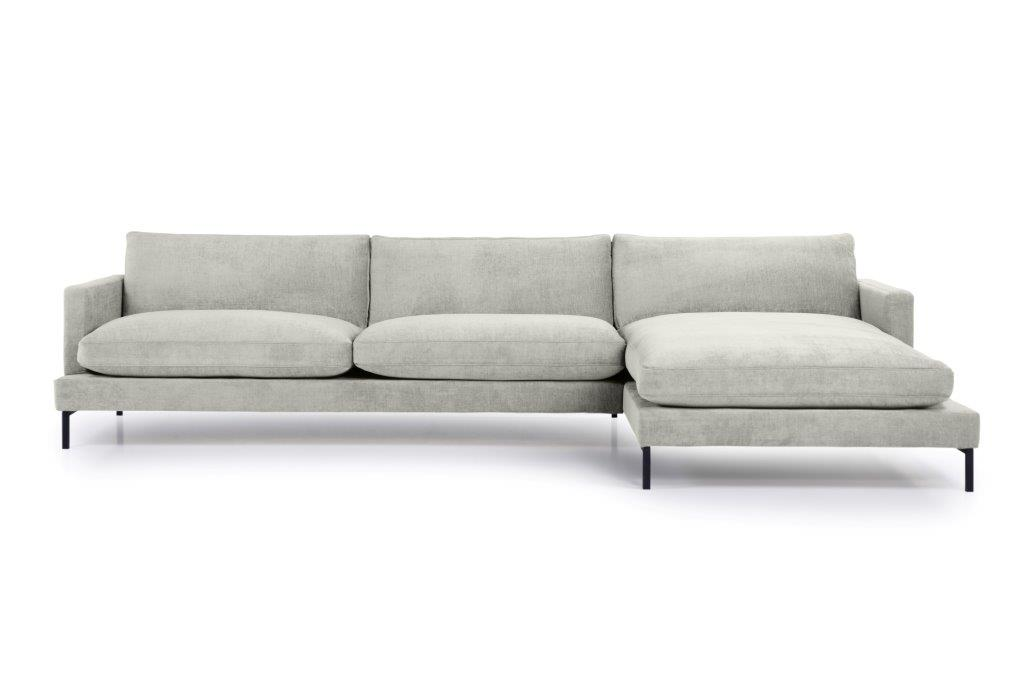 LEKEN chaiselongue with 3 seater (CONCEPT 3.1 light grey) front softnord soft nord scandinavian style furniture modern interior design sofa bed chair pouf upholstery