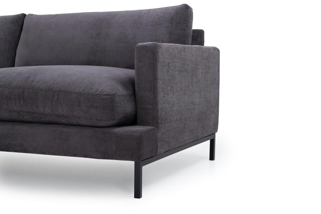 LEKEN chaiselongue with 3 seater (CONCEPT 3.2 dark grey) arm+leg softnord soft nord scandinavian style furniture modern interior design sofa bed chair pouf upholstery
