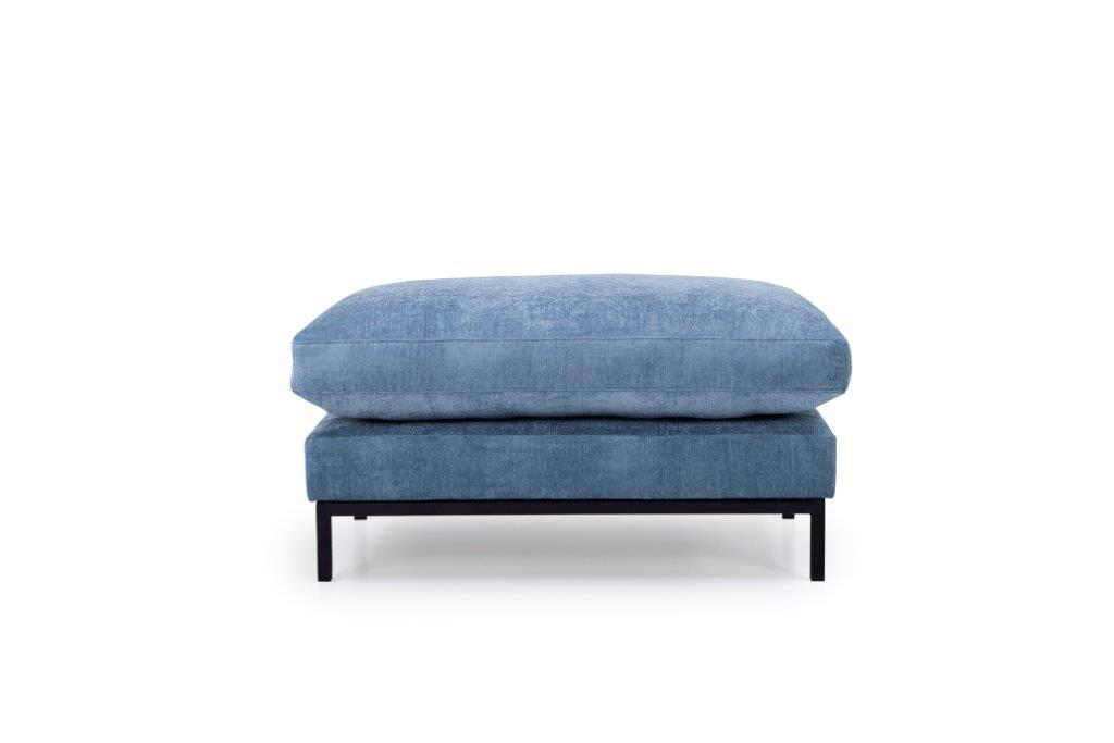 LEKEN pouf (CONCEPT 16 blue) front softnord soft nord scandinavian style furniture modern interior design sofa bed chair pouf upholstery