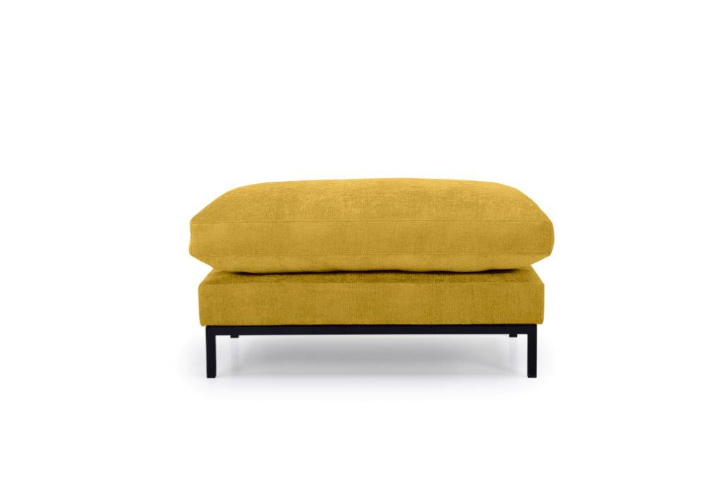 LEKEN pouf (CONCEPT 23 yellow) front softnord soft nord scandinavian style furniture modern interior design sofa bed chair pouf upholstery