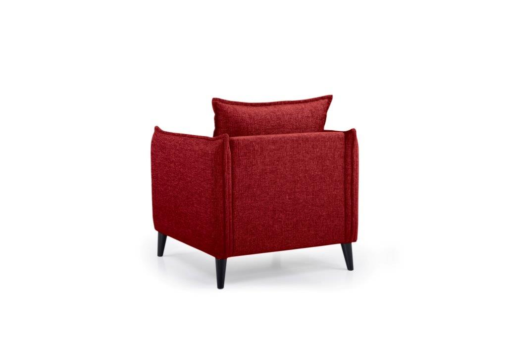 LEO 1 seater (DOKKER 1 red) back softnord soft nord scandinavian style furniture modern interior design sofa bed chair pouf upholstery