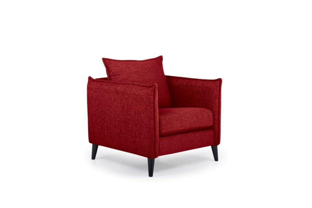 LEO 1 seater (DOKKER 1 red) side softnord soft nord scandinavian style furniture modern interior design sofa bed chair pouf upholstery