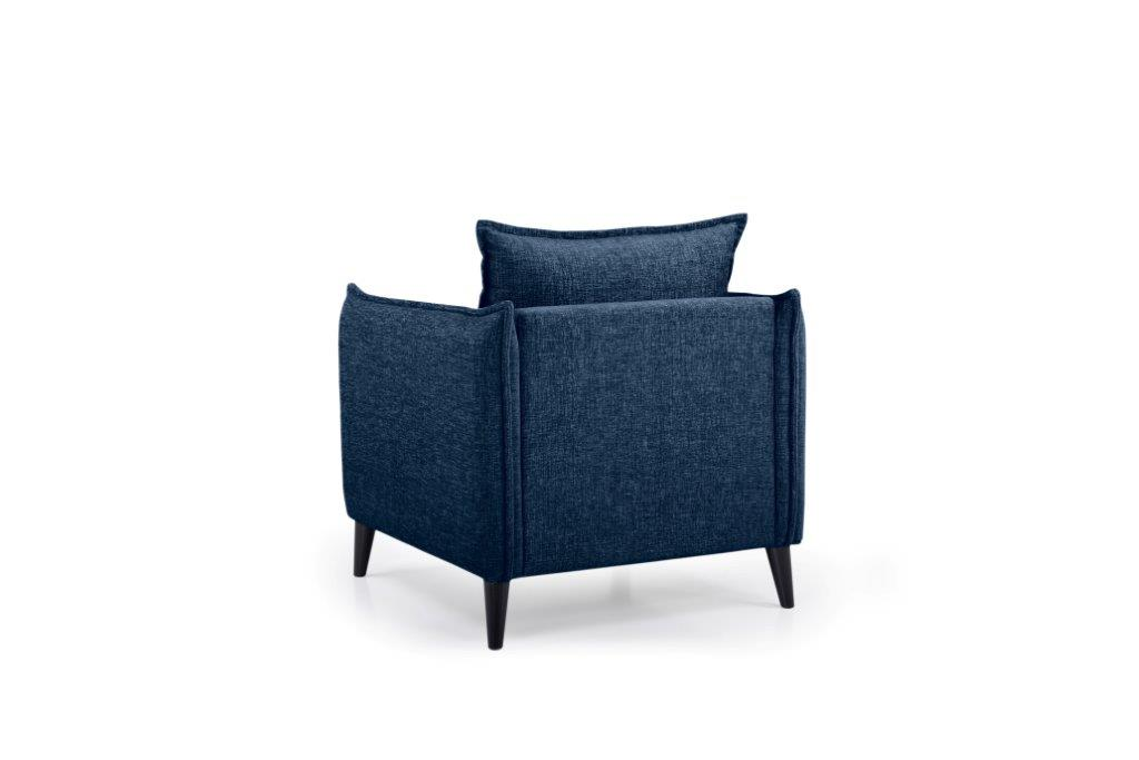 LEO 1 seater (DOKKER 16.2 dark blue) back softnord soft nord scandinavian style furniture modern interior design sofa bed chair pouf upholstery