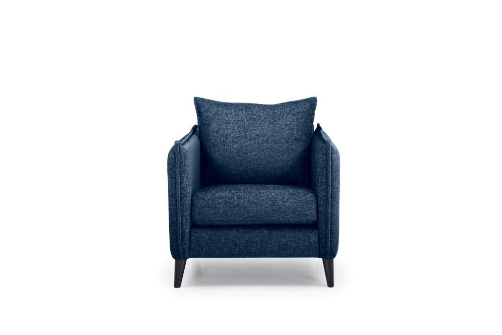 LEO 1 seater (DOKKER 16.2 dark blue) front softnord soft nord scandinavian style furniture modern interior design sofa bed chair pouf upholstery