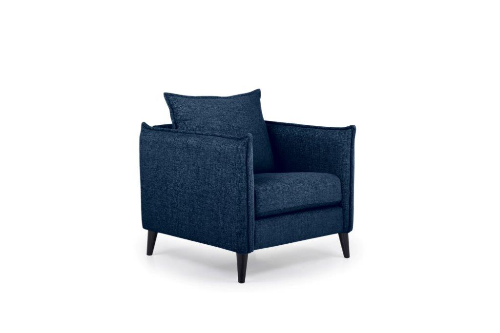 LEO 1 seater (DOKKER 16.2 dark blue) side softnord soft nord scandinavian style furniture modern interior design sofa bed chair pouf upholstery