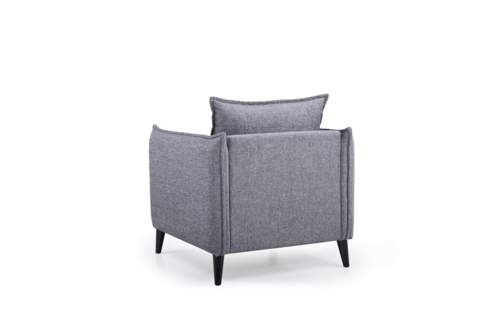 LEO 1 seater (DOKKER 3 grey) back softnord soft nord scandinavian style furniture modern interior design sofa bed chair pouf upholstery