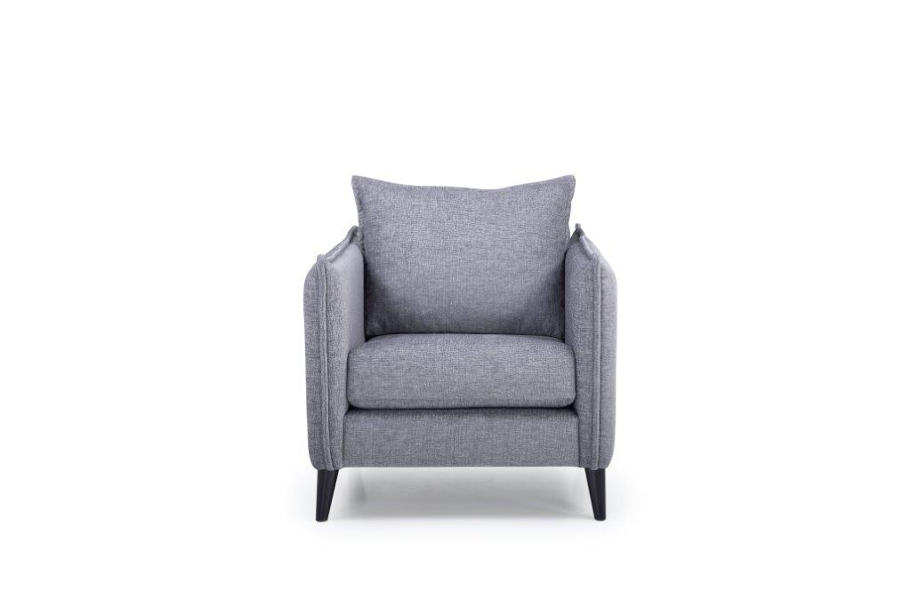 LEO 1 seater (DOKKER 3 grey) front softnord soft nord scandinavian style furniture modern interior design sofa bed chair pouf upholstery