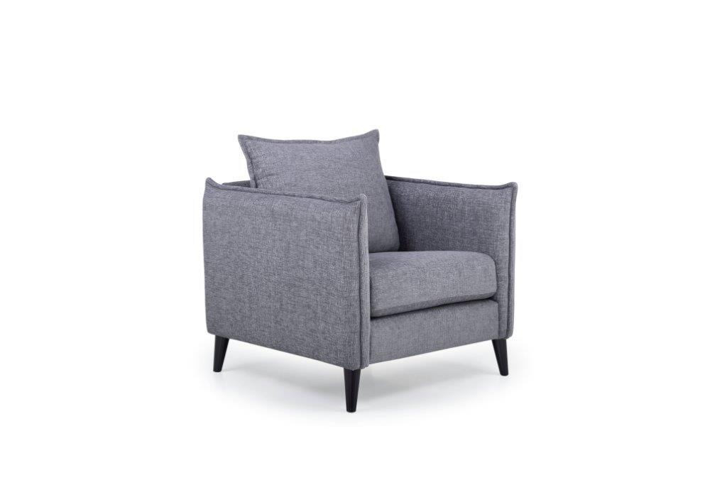 LEO 1 seater (DOKKER 3 grey) side softnord soft nord scandinavian style furniture modern interior design sofa bed chair pouf upholstery