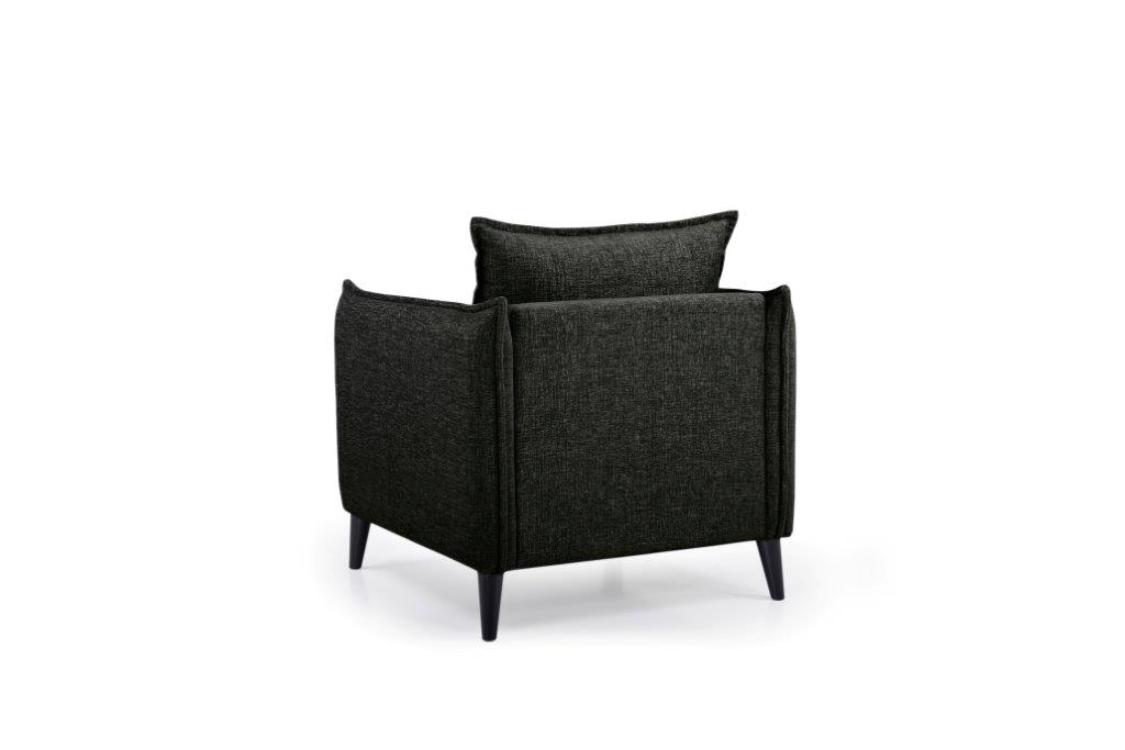 LEO 1 seater (DOKKER 6 black) back softnord soft nord scandinavian style furniture modern interior design sofa bed chair pouf upholstery
